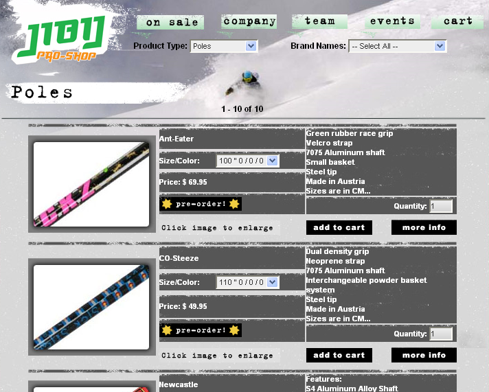 Purchase your poles through Jibij.com